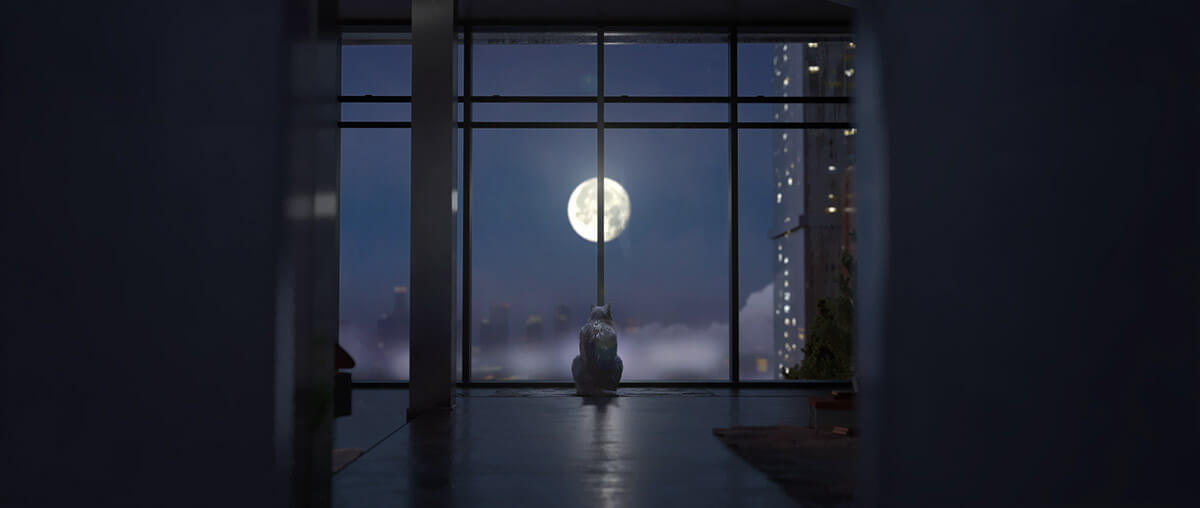Keyframe of the penthouse and wolf